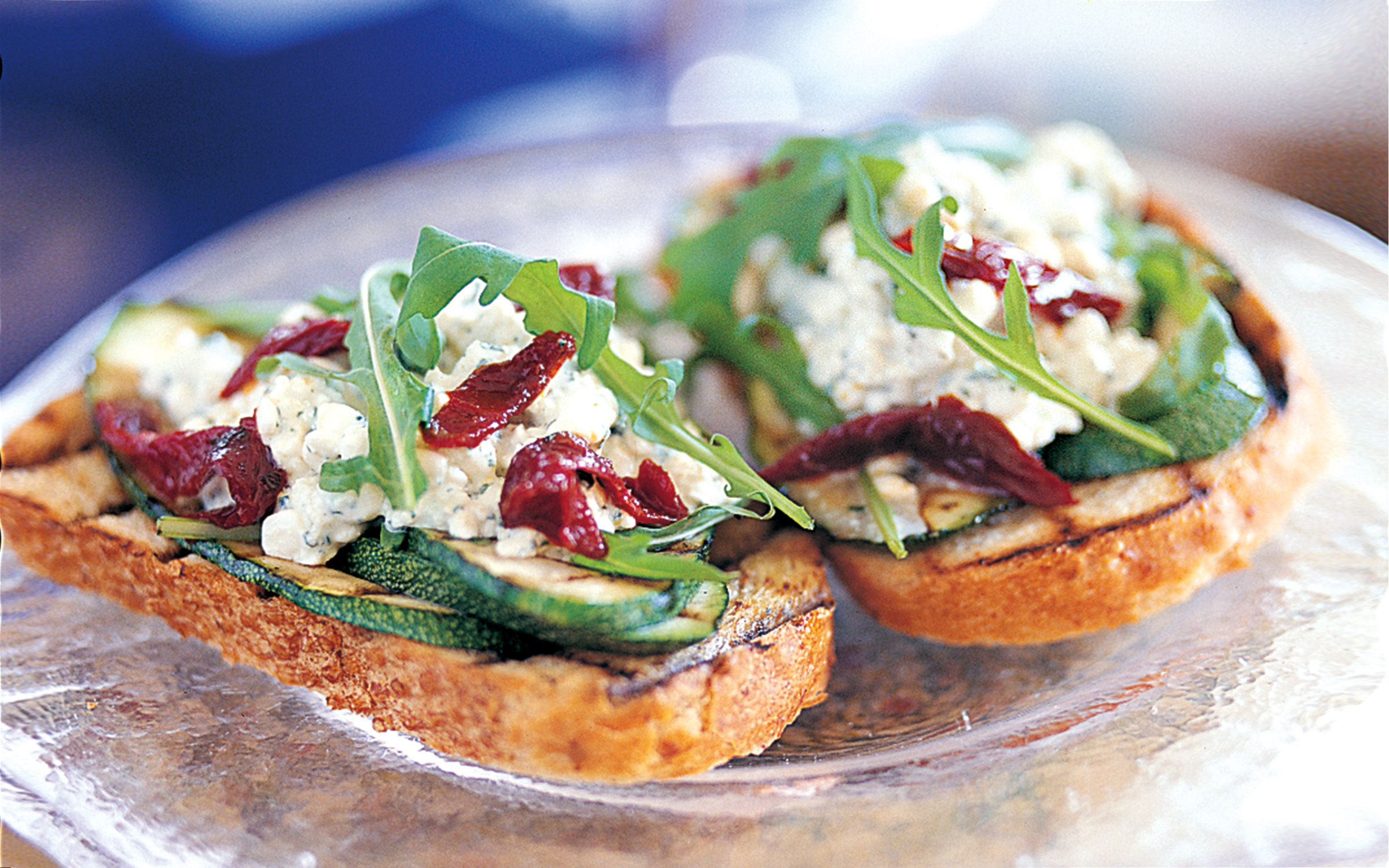 förrätt vegetarisk toast