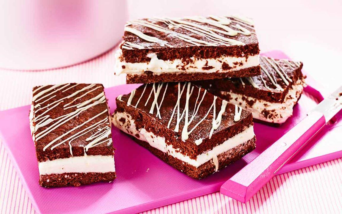 Glassandwich med chokladbotten