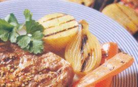 Grillad potatis och rotfrukter med avokadoröra (12 port)