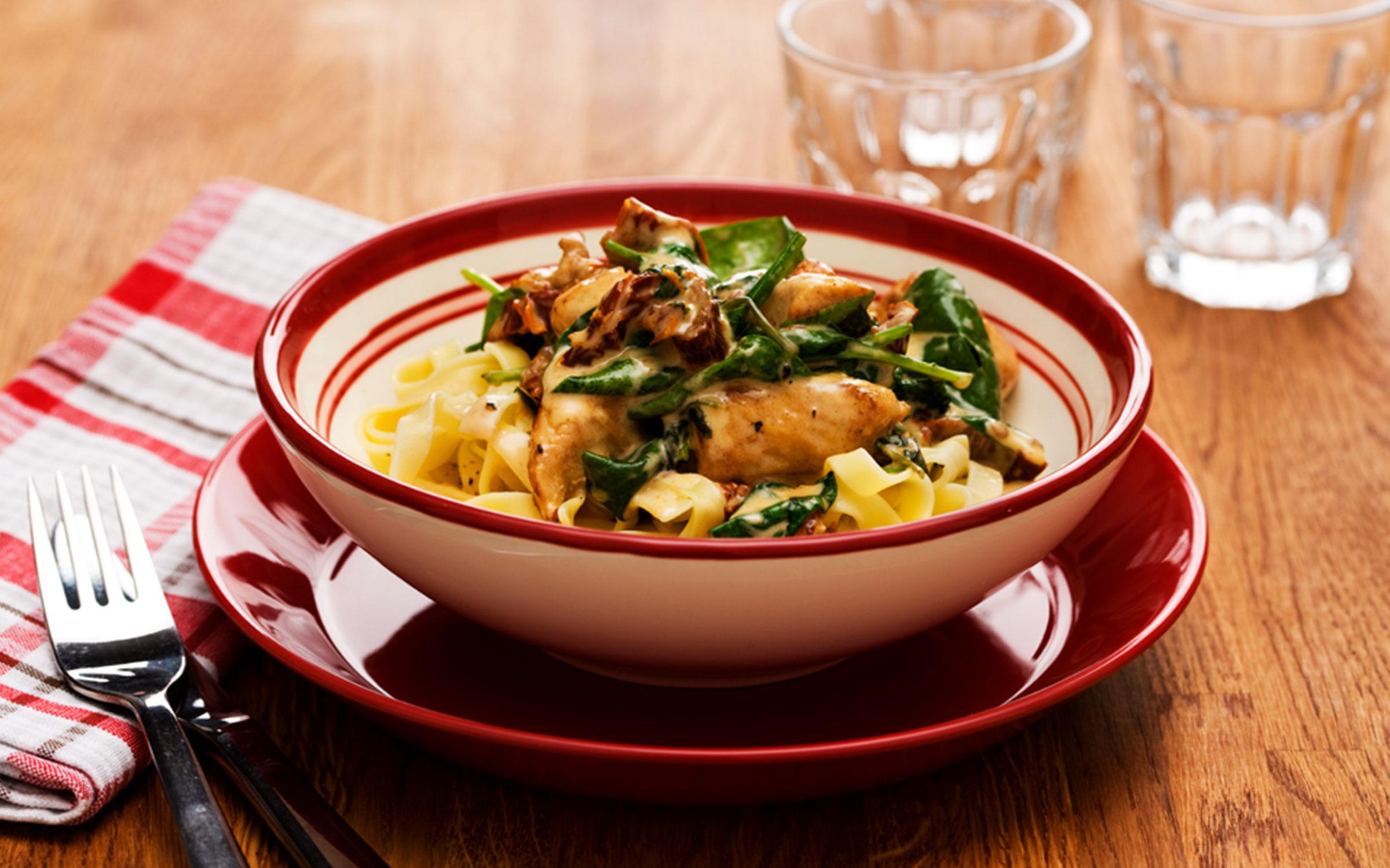 Recept på kycklingpasta