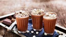 Varm choklad på gräddmjölk