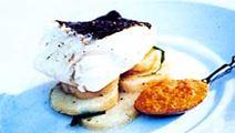 Kokt torsk med bouillabaisseyoghurt