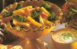 Grönsaker med ostcrème