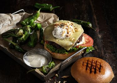 Vegoburgare med svamp och ost