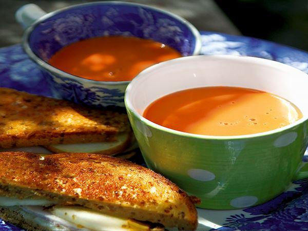 Snabb soppa och sandwich