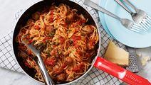 Italienska köttbullar med extra fyllig tomatsås