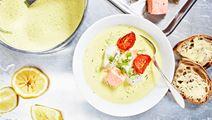 Fisksoppa med tomat, saffran och fänkål