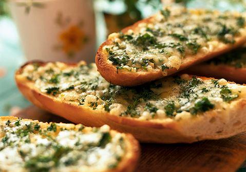 Gratinerad ostbaguette