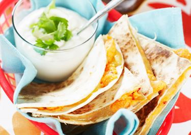 Quesadillas med sötpotatis