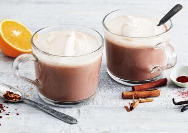 Varm choklad med vispgrädde