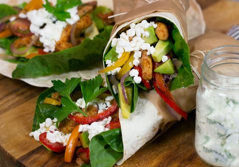 Kycklingwraps med cottage cheese