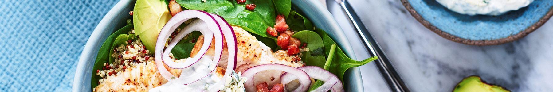 Quinoa + Lunch + Sallad