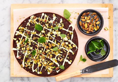Glutenfri kladdkaka med ingefära och vit choklad