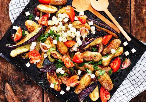 Rostad auberginesallad med vitost