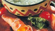 Parmaskinka med rucolasås