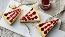 Cheesecake med citron och hallon