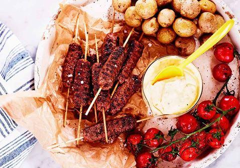 Köttfärsspett med bearnaise