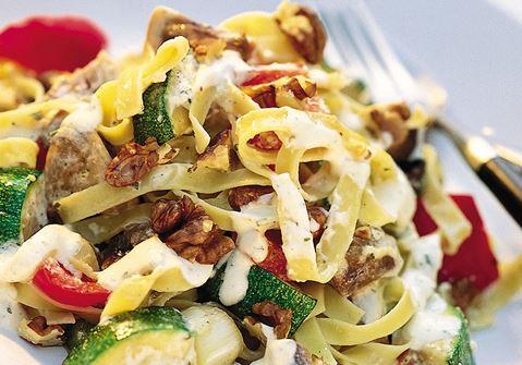 Pasta med örtgrönsaker