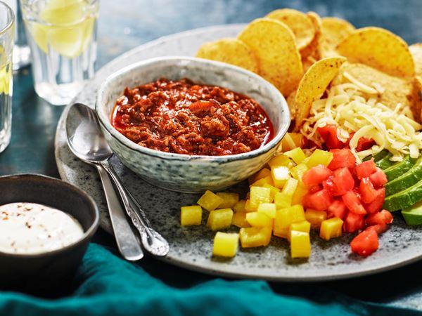 Nachotallrik med tacofärs