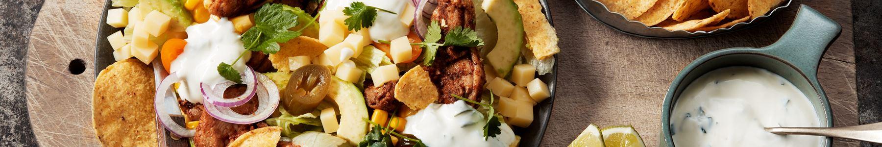 Grönsaker + Taco + Dressing