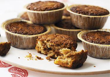 Chokladmuffins med nötter och kanel