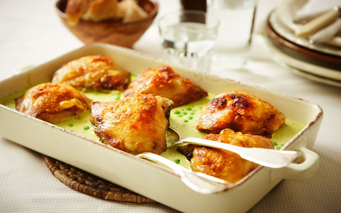 Kyckling med ärter och vanilj