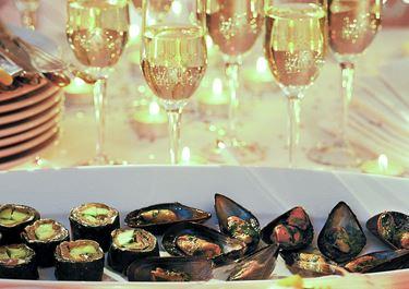 Gratinerade musslor 75-90 st