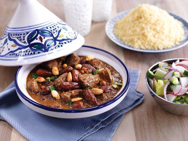 Lamm- och dadelgryta med couscous