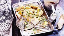 Rimmad torskrygg med pepparrot och brynt smör