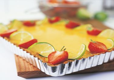 Jordgubbscheesecake med lime