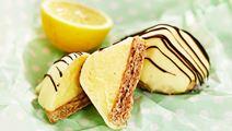 Biskvier med vit choklad och citron