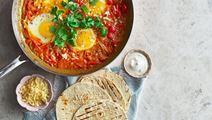 Huevos rancheros med smakrik cheddar