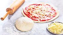 Snabb pizzadeg utan jäst