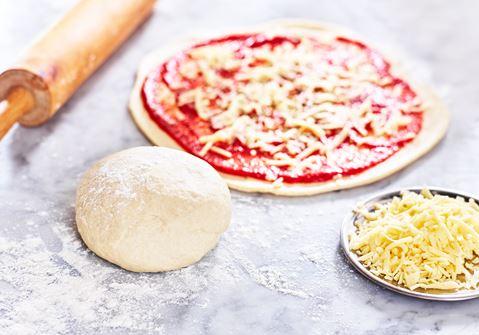 pizzabotten utan jäst