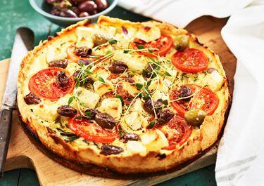 Grekisk paj med ost och grönsaker