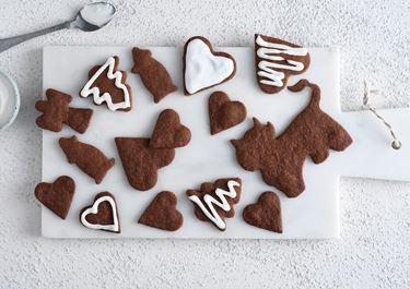 Juliga chokladkakor med kristyr