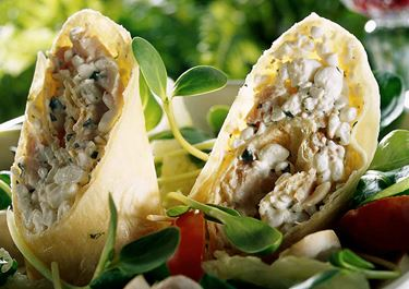 Kycklingwrap med cottage cheese