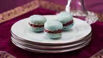 Macarons med blåbär