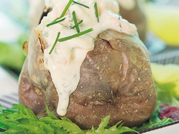 Räkfyllning till bakad potatis