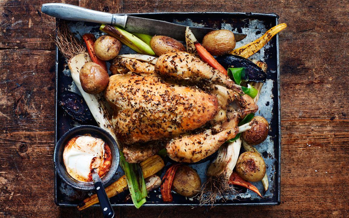 Lazy dinner - kyckling i ugn med grönsaker
