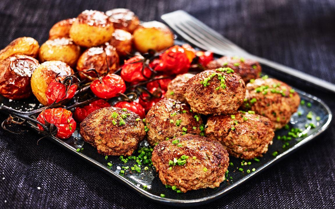 Köttfärsbiffar med timjan