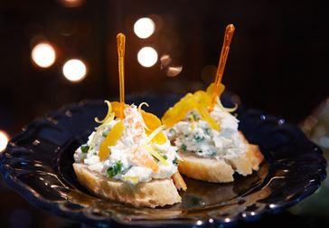 Pincho med krabba och färskost