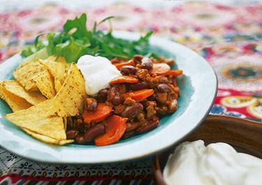 Snabb chili med chorizo