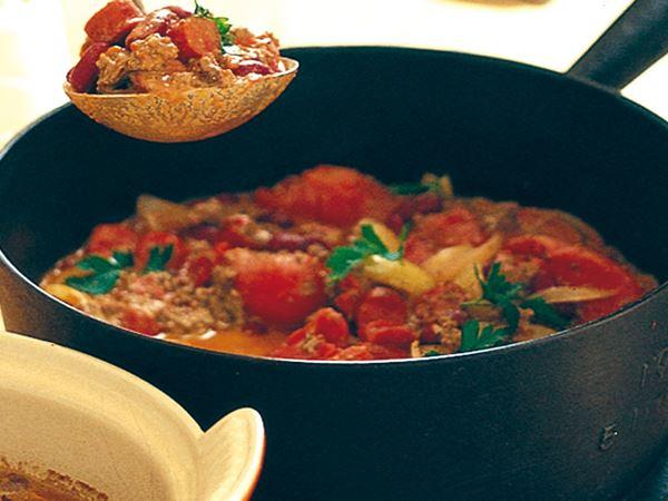 Hot chili med chorizo