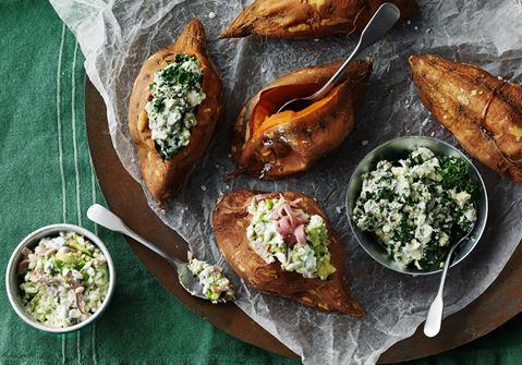 fylld sötpotatis recept