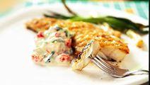 Grillad fisk med kräfttsatsiki