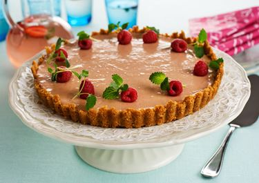 Cheesecake med hallon