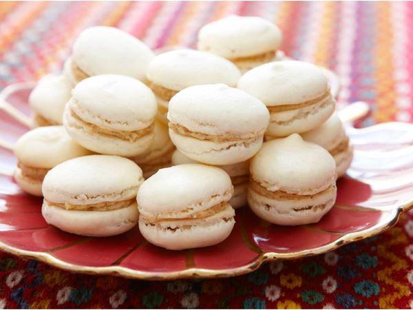 Macarons med pepparkakskräm