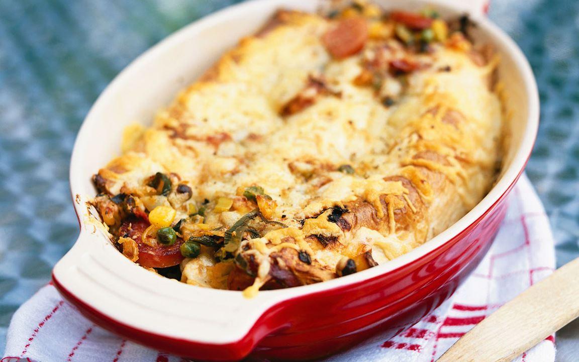 Chorizo enchilada