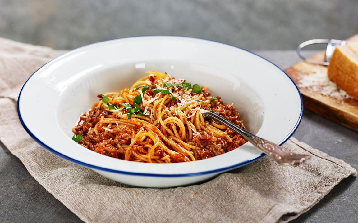 Snabb spaghetti bolognese